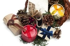 Free Cornucopia With Gifts 3 Royalty Free Stock Photography - 16159117
