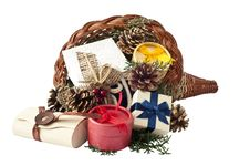 Free Cornucopia With Gifts Stock Photography - 16159132