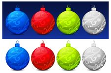 Free Christmas Baubles Royalty Free Stock Image - 16159216