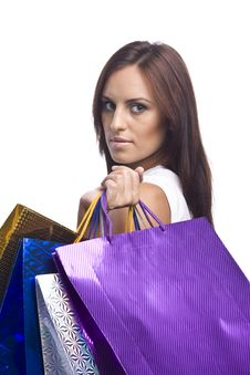 Free Woman With Bags Stock Photos - 16159503