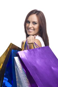 Free Woman With Bags Stock Photos - 16159513