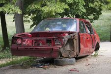 Free Car Wreck Stock Photography - 16159652