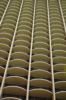 Vacation Background Of Hotel Balconies