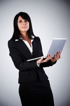 Free BusinessWoman With Laptop Royalty Free Stock Images - 16159839