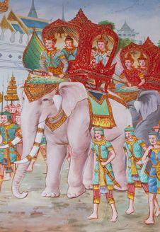 Thai Temple Walls. Royalty Free Stock Photos