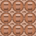 Free Cute Coffee Pattern Royalty Free Stock Photos - 16162178