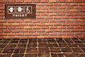 Free Toilet Sing As Brickwall Stock Photography - 16165622