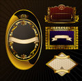 Free Vector Vintage Set. Gold Frames Ornate Label Stock Images - 16167884