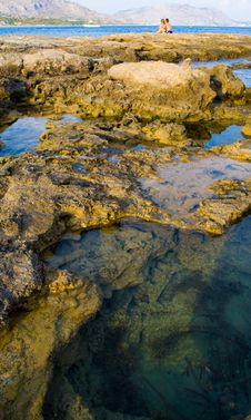 Free Sunset On The Mediterranean Sea Royalty Free Stock Photos - 16160098