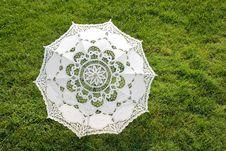 Free Beautiful Sun Umbrella On The Green Lawn Royalty Free Stock Image - 16160776
