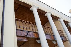 Free Balcony With White Columns Stock Image - 16160831