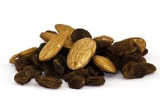 Mix Of Raisins And Almond Nut Stock Images
