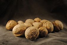 Free Brown Delicious Nuts On The Dark Backround Royalty Free Stock Photo - 16162345