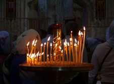 Free Candles In The Church Stock Photography - 16162702