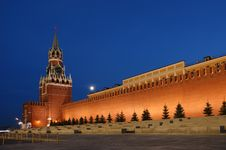 Free Red Square At Night Royalty Free Stock Photography - 16163787
