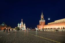Free Red Square At Night Stock Photo - 16163800