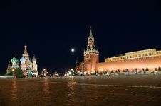 Free Red Square At Night Stock Photography - 16164352
