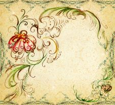 Free An Original Background Is The Drawn Elements Royalty Free Stock Image - 16164556