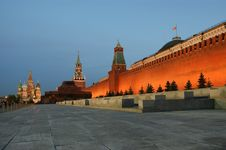 Red Square At Night Stock Photography