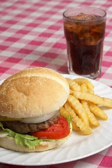 Hamburger Meal Royalty Free Stock Photography