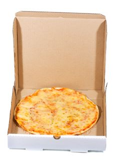 Free Pizza In Open Paper Box Stock Photos - 16165563