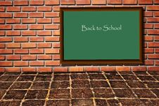 Free School Black Board As Brickwall Royalty Free Stock Photography - 16165587