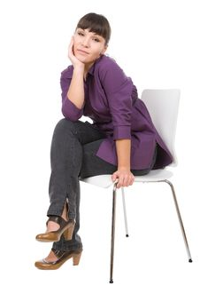 Free Woman With Chair Stock Images - 16165754