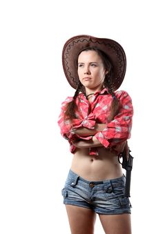 Free Cow-girl Royalty Free Stock Photography - 16165917