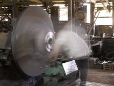 Wheel Machine Working Royalty Free Stock Image