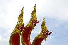 King Naga Three Head Stock Photo
