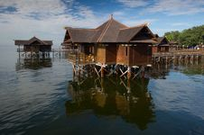 Free Floating Hut Stock Image - 16166171