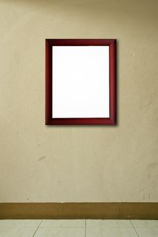 Free Old Wooden Frame On Pink Wall Royalty Free Stock Photo - 16166575