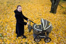 Free Mother With A Stroller. Stock Photos - 16167073