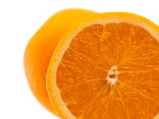 Free One Half Of Orange With Another Whole Orange Royalty Free Stock Photo - 16167285