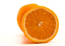 Free One Half Of Orange With Another Whole Orange. Royalty Free Stock Photos - 16167308