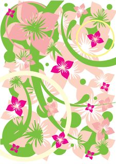 Free Abstract Floral Background Stock Photography - 16167612