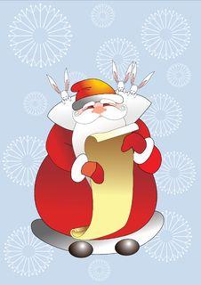 Free Santa Claus And Rabbits Royalty Free Stock Photo - 16167665