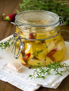 Marinated Cheese Stock Images