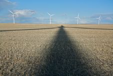 Free Wind Turbine Shadow Stock Photo - 16167970