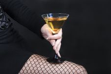 Free The Woman Holding A Cocktail Stock Images - 16168514