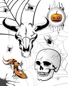 Free Set Of Halloween Elements Stock Photography - 16168772