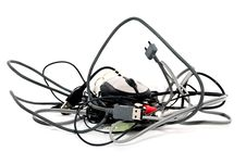 Free Heap Of Twisted Wires And A Mouse Stock Photography - 16169022