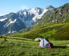Free Camp In The High Mountains Stock Photo - 16169110