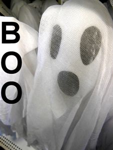 Free Halloween Ghost With A Big Boo Stock Image - 161685331