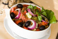 Free Greek Salad,mixed With Tomato And Black Olives Stock Photo - 16171850