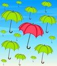 Free Umbrella With Wallpaper Design Stock Photos - 16178073