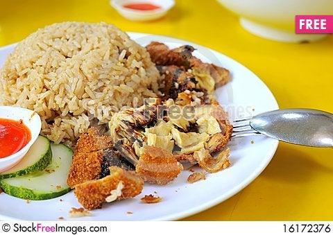 Free Vegetarian Chicken Rice Royalty Free Stock Image - 16172376