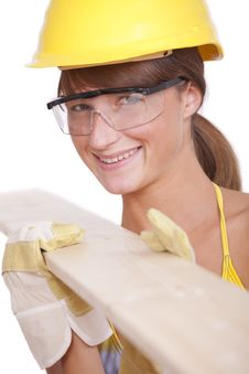 Free Female Worker With Wood Stock Photography - 16170012