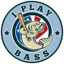 Free Largemouth Bass Baseball Bat Stock Photos - 16170513