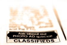 Free Classified Ad Royalty Free Stock Image - 16170896